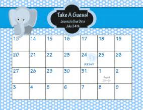 Office pool baby guess printable due date calendar baby shower game