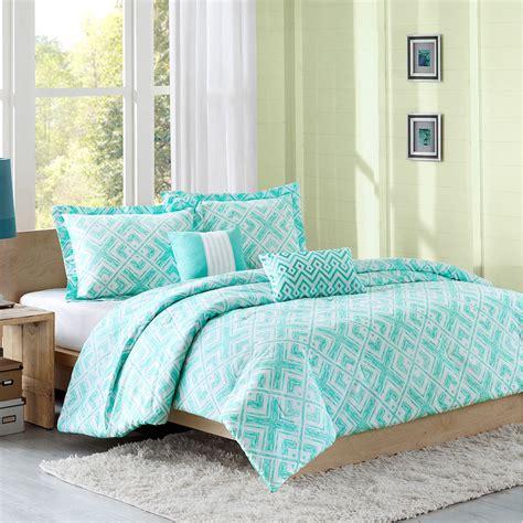 Teal Twin Bedding Intelligent Designer Comforters Light Teal White Geometric