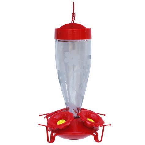 shop garden treasures hummingbird s favorite glass feeder