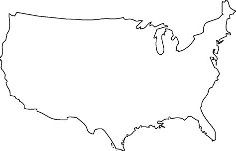 usa map outline with states geography outline maps united states blank map of