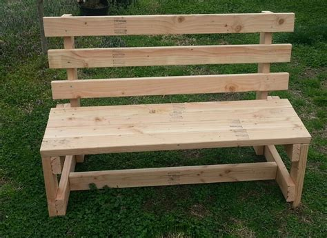 Handmade Garden Bench - white wood garden bench solid handmade bench with back ebay