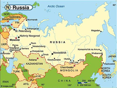 map of russia with cities and countries russia nanopics pictures