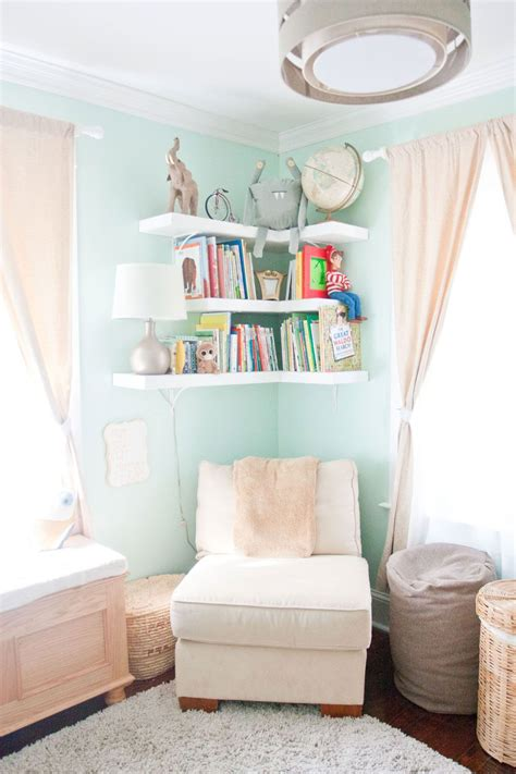 15 Ways To Diy Creative Corner Shelves White Bookcase For Nursery