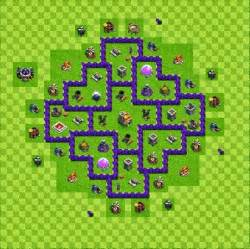Base layout town hall level 7 clash of clans jagat clash of clans