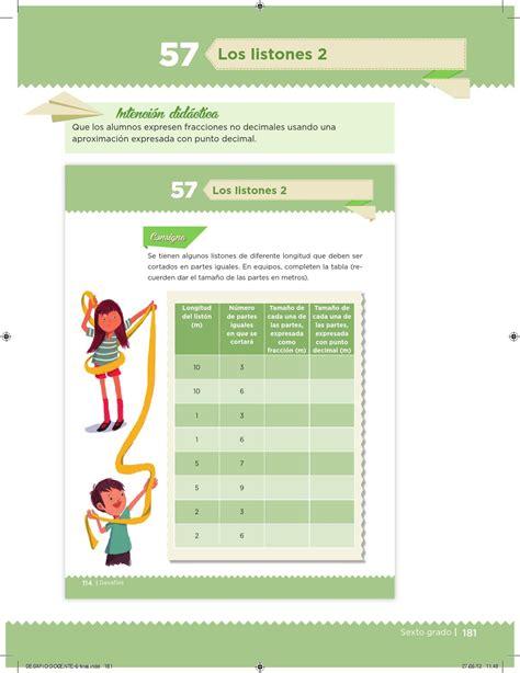 issuu libro de matemticas contestado desaf 237 os docente 6 176 primaria by escuelas de tiempo