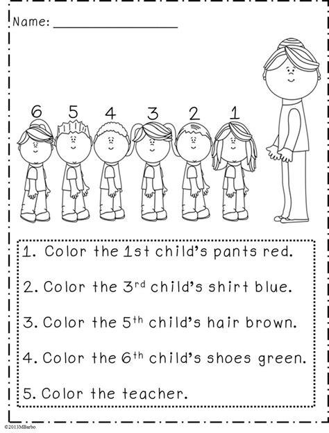 printable ordinal numbers worksheets for preschoolers free coloring pages of ordinal numbers