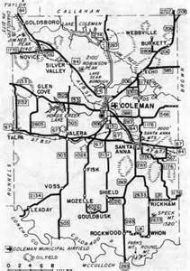 coleman county maps and gazetteers