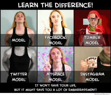 Model Meme - modeling learn the difference weknowmemes