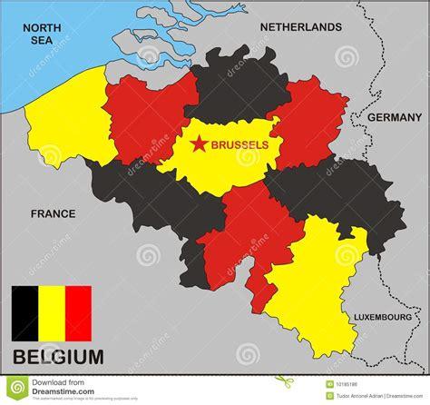 belgium political map belgium political map royalty free stock image image