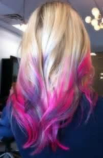 pretty colored hair beautiful dip dyed hair hair