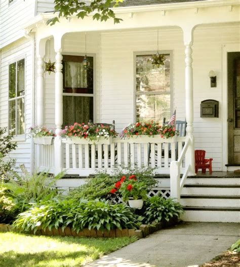 farmhouse porches quaint porches little town filled with older homes with