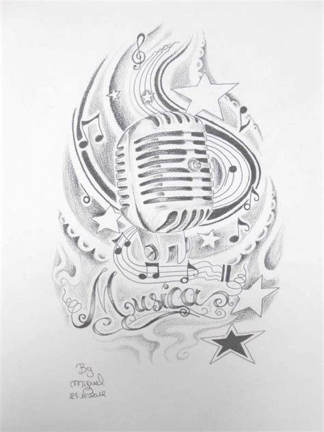 microphone tattoo sketch old style microphone tattoo art with ancient micro