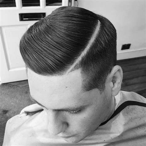 hard part hair men 40 hard part haircuts for men sharp straight line style