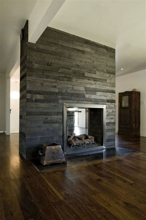 Clad Fireplace by Wood Clad Fireplace Interiors