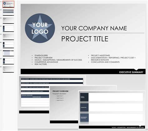 summary template free executive summary templates smartsheet
