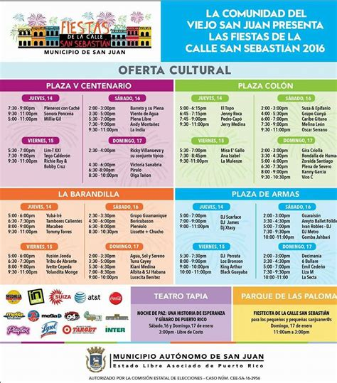 calendario fiestas patronales puerto rico 2016 fiestas de la calle san sebasti 225 n 2016 son de aqui pr