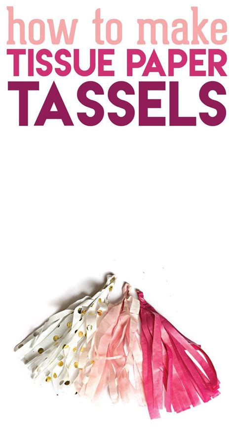 How To Make Tissue Paper Tassels - 116 best kid birthday ideas images on