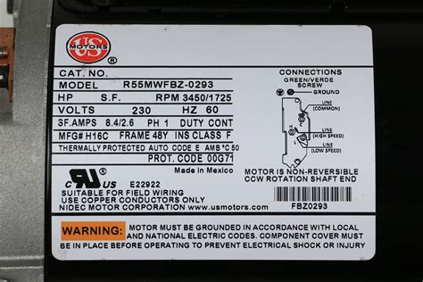 nidec motor wiring diagrams motor wiring diagram single