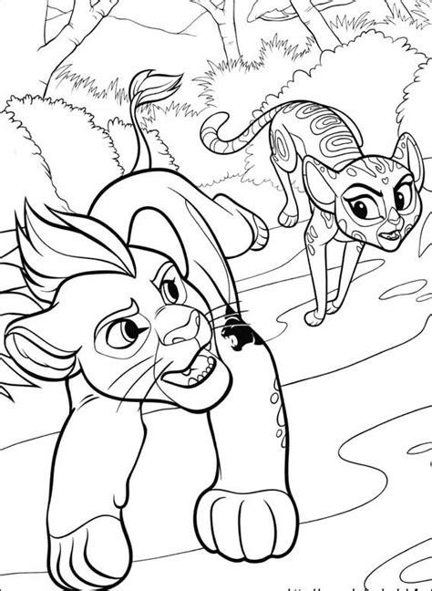 coloring pages for lion guard bunga kion fuli beshte sketch coloring page