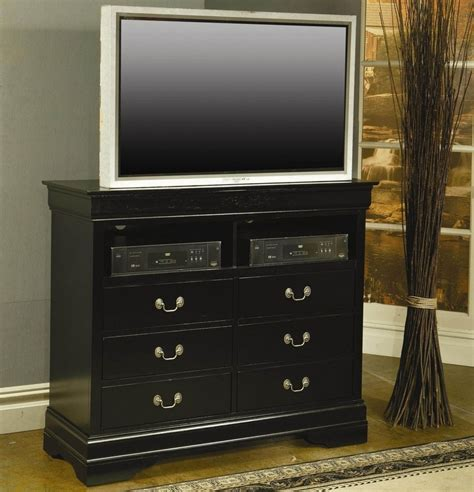 black media chest for bedroom coaster louis philippe 201076 black wood media chest in
