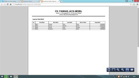 tutorial html2pdf php membuat report laporan pdf dengan php dan fpdf yukcoding
