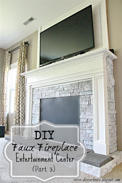 Faux Fireplace Entertainment Center by Diy Faux Fireplace Entertainment Center Part 3 Bless Er