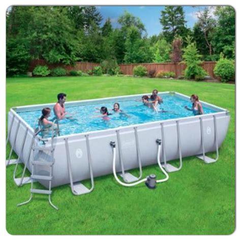 coleman backyards coleman 18x9x48 rectangle pool pool pinterest pools