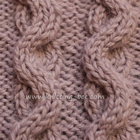 knitting cable wave cable aka snake cable knitting bee