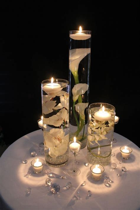 wedding centrepieces with floating candles diy floating candle centerpiece ideas www fabartdiy