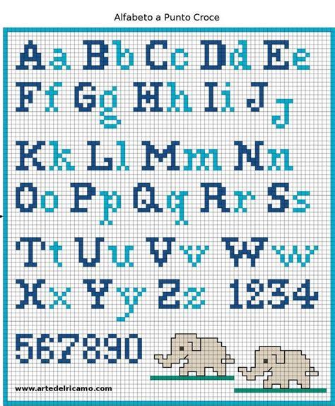 Abecedario En Punto De Cruz Para Imprimir | abecedario punto de cruz punto de cruz pinterest