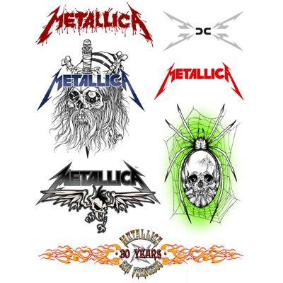 metallica tattoo designs temporary tattoos metallica temporary