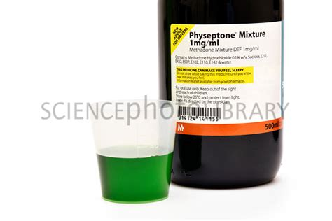 Smoothie To Help With Methadone Detox by Methadone Bottle And Liquid Stock Image C026 0256