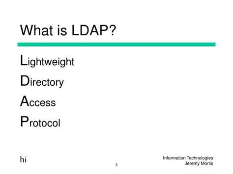 ldap tutorial powerpoint ppt ldap powerpoint presentation id 4705537