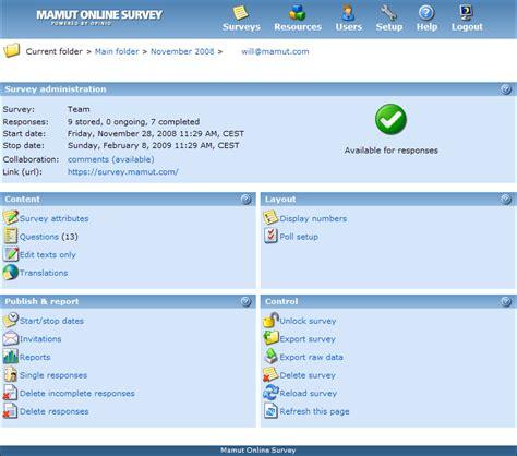 Create A Survey Online - about mamut online survey