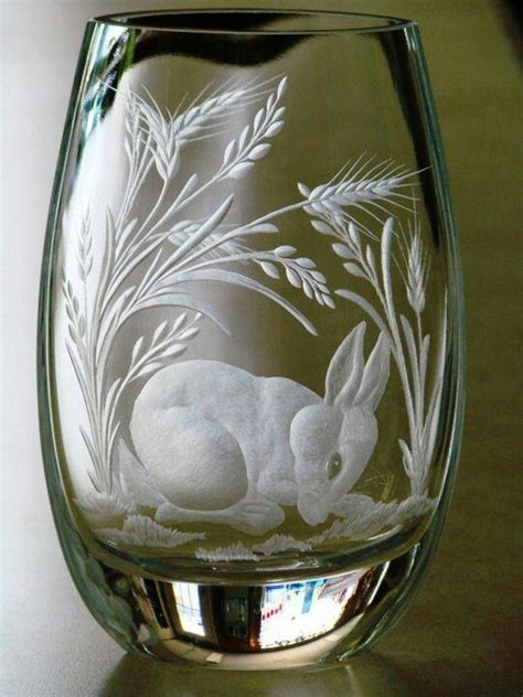 Engraved Glass Vase by 399 Best Ideas About Glass Engraving On