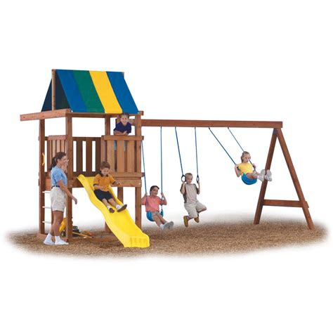 backyard swing set kits buy swing n slide wrangler playground kit