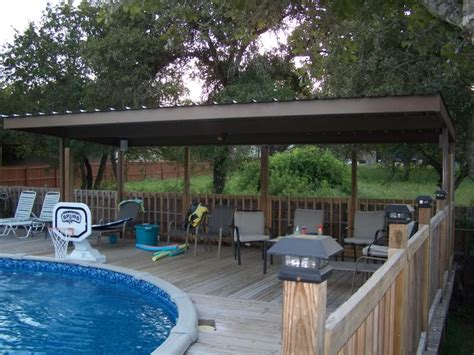 Swimming Pool Awnings by Metal Carport Awning Patio Cover Swimming Pool South Bexar County Carport Patio Covers Awnings
