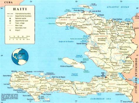 haiti map of cities maps of haiti