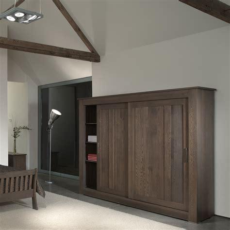 Contemporary Oak Wardrobe - quercus solid oak sliding door wardrobe 2 4m con tempo
