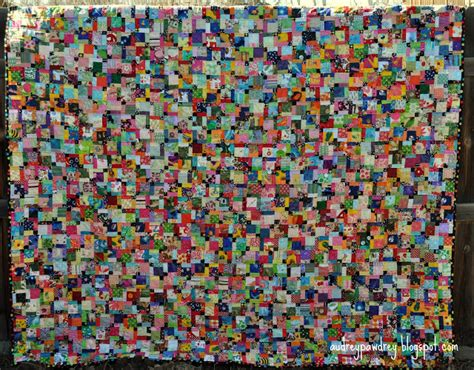 audreypawdrey scrappy disappearing nine patch quilt