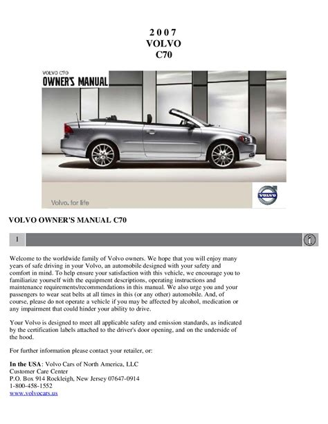 car repair manual download 2007 volvo c70 parental controls service manual 2007 volvo c70 owners manual service