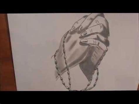imagenes de manos unidas orando mi dibujo manos con rosario youtube