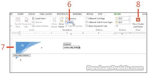 cara membuat nomor halaman mirror cara membuat dan mendesain template untuk dokumen yang