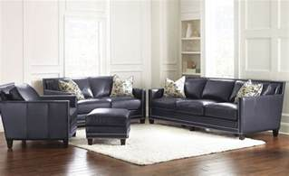 navy living room furniture steve leather hendrix 4 piece living room set in navy