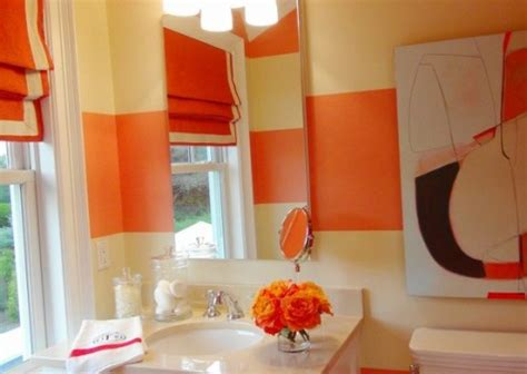 orange bathroom decorating ideas interior design