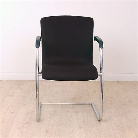 black meeting chairs  chrome cantilever frame meeting chair  chrome frame black fabric seat