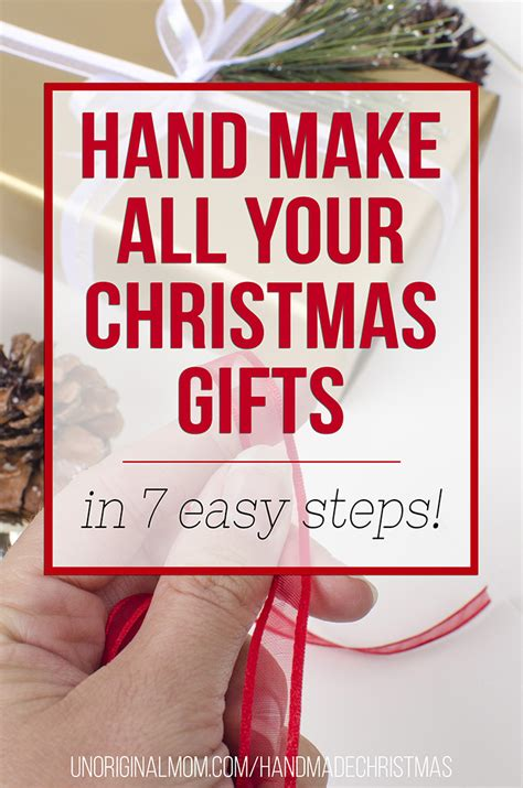 how to hand make all of your christmas gifts this year