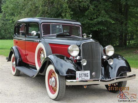 1933 plymouth 4 door sedan 1933 plymouth pd 4 door sedan fully restored mint a