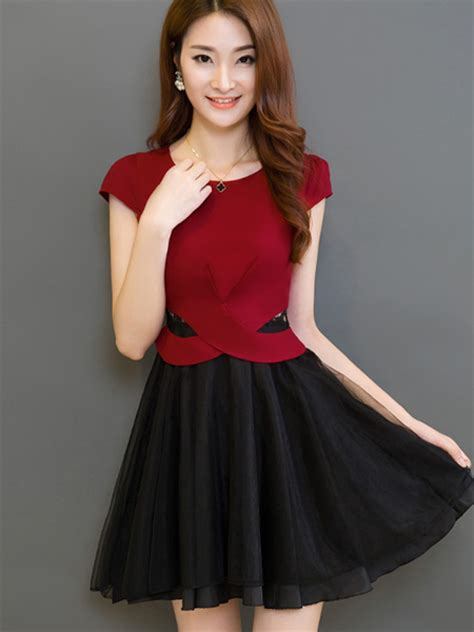Bigsize Fuchsia Slim Look Dress Made In Korea 1 korean formal dresses dress yp