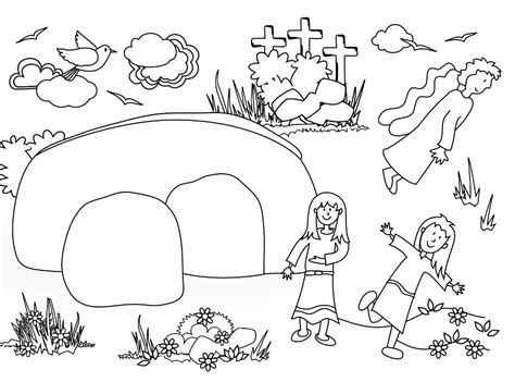 coloring page of jesus tomb jesus tomb coloring pages